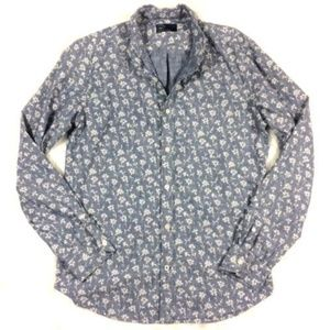 GAP Floral Chambray Button Front Shirt
